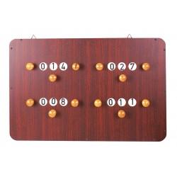 Anzeigetafel mit 4 Zählern, Abmessung ca 60 x 40 cm