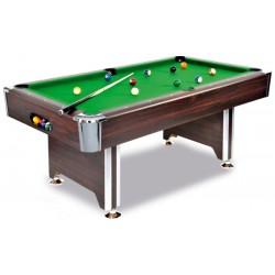 Billardtisch SEDONA, ein hochwertiger Tisch zu einem tollen Preis in Mahagoni-Dekor, mit Chromecken