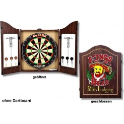 Dart-Cabinet Kings Head, antik braun gebeizt.