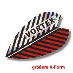 Dartfly Vortex, Form X (größere Form), rot-weiß