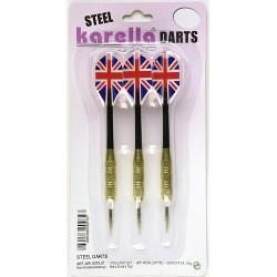 Karella Steeldart Blister-Set 3 Stck.. Gewicht 18 gr , Metallspitzen
