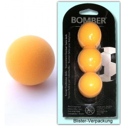 Kickerball Bomber ROBERTSON, orange, 35,1 mm, 3 Stück im Set,